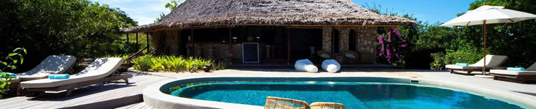 Pool at the Azura Quilalea in Mozambique