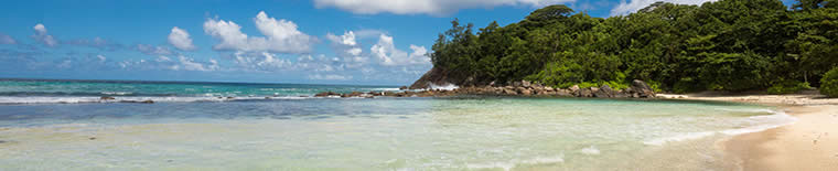 Beach at Hilton Double Tree Allamanda in Seychelles